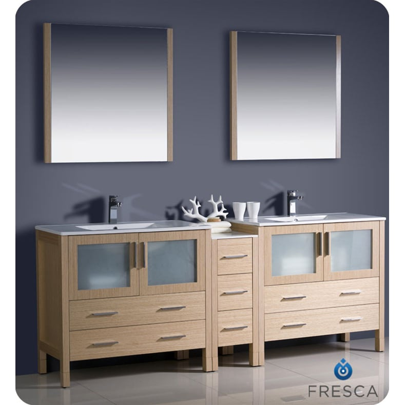 84 Inch Double Sink Bathroom Vanities With Unique Type In