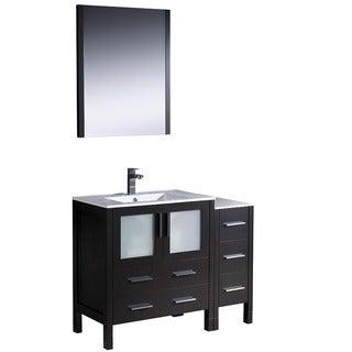 Fresca Torino 42-inch Espresso Modern Bathroom Vanity with Side Cabinet and Undermount Sink