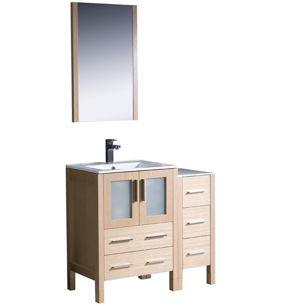 Fresca Torino 36-inch Light Oak Bathroom Vanity