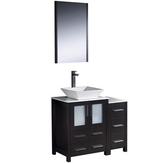 Fresca Espresso 36-Inch Plywood Bathroom Vanity