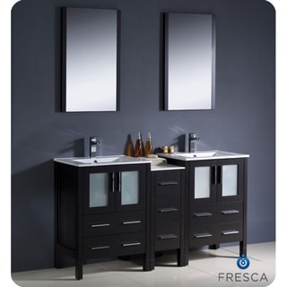 Fresca Espresso Double Sink Bathroom Vanity