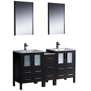 Fresca Espresso Double Sink Bathroom Vanity