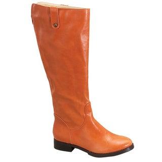 Fahrenheit Women's 'Rooney-03' Orange Riding Boots