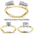 Annello 14k Two-tone Gold 1/4-1ct TDW Diamond Wrap or Solitaire Ring (H-I, I1-I2)