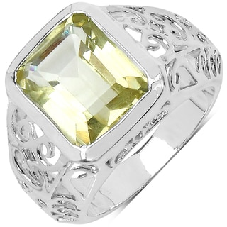 Malaika Sterling Silver Lemon Quartz Ring