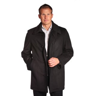 Jean Paul Germain Men's Charcoal Denver Wool Blend Coat