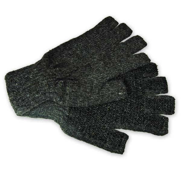 Raider Grey/ Red Bead Palm Knit Gloves