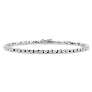 Miadora Signature Collection 14k White Gold 3ct TDW Diamond Bracelet (G-H, I1)