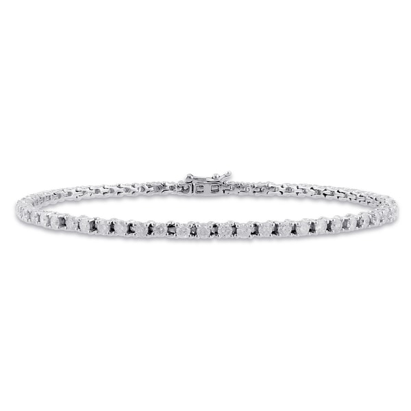 Miadora 14k White Gold 3ct TDW Diamond Bracelet (G-H, I1)