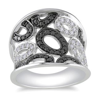 Haylee Jewels Sterling Silver 1/5ct TDW Diamond Ring (H-I, I2-I3)