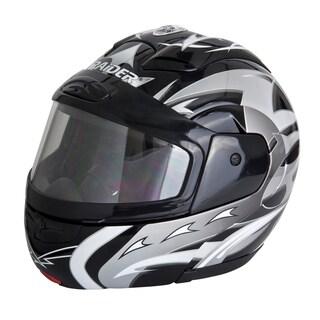 Raider Modular Black/Silver Snow Helmet