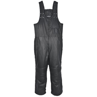 Mossi Black Leather Snowmobile Bibs