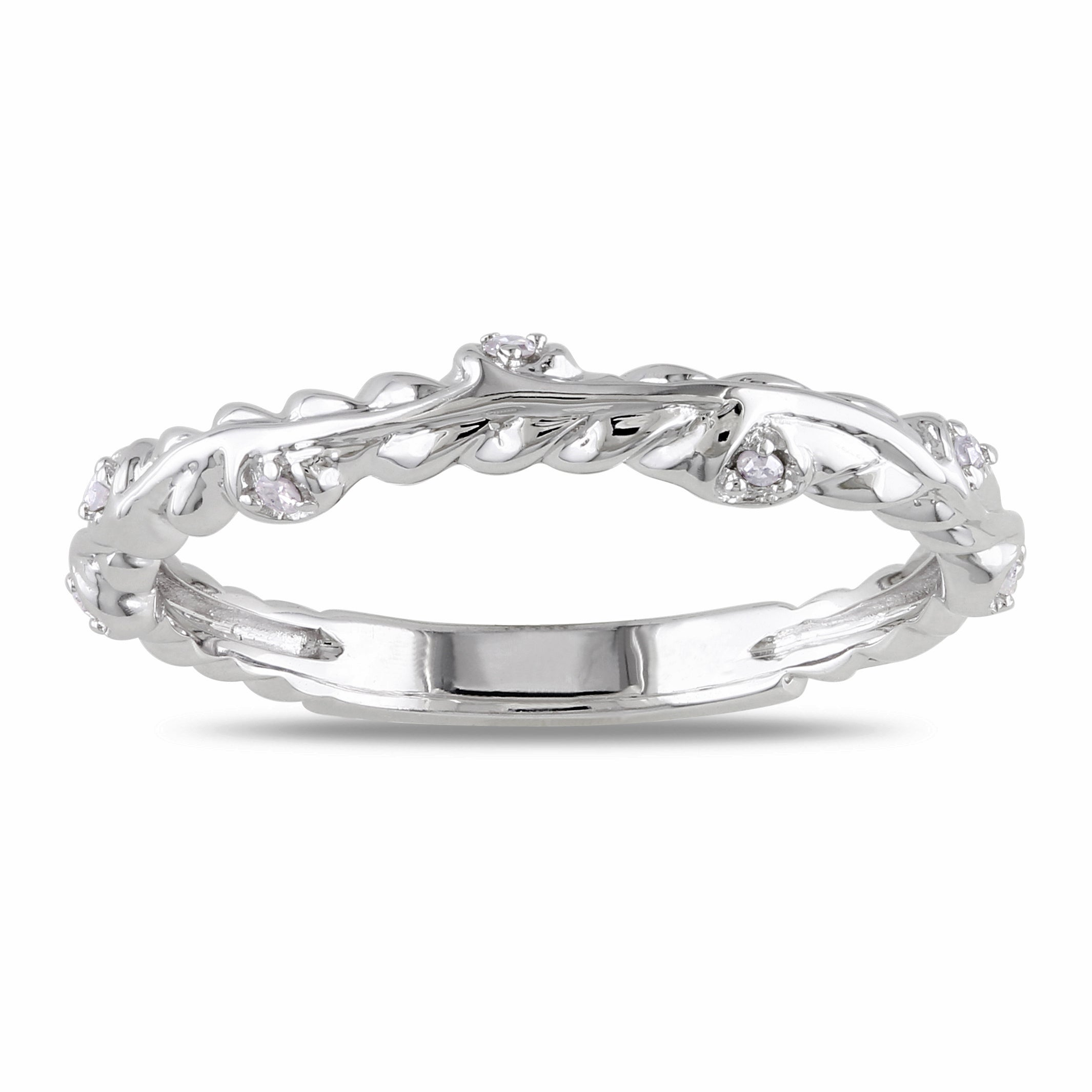 Miadora 14k White Gold Diamond Accent Wedding Band at Sears.com