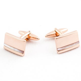 Cuff Daddy Rosetone Mother of Pearl Inlay Cuff Links
