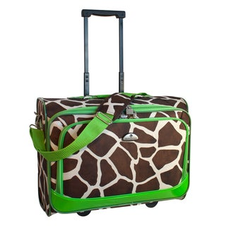 American Flyer Giraffe Green 17-inch Rolling Carry-on Tote