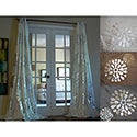 Sophie Modern Bold Metallic Flower Pattern 84-inch Grommet Panel Curtain