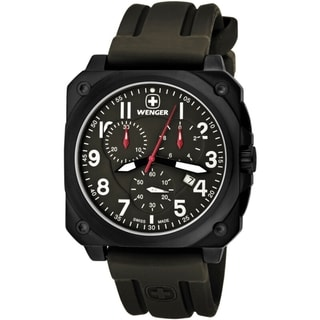 Wenger Men's AeroGraph Cockpit Chrono NATO Green Watch