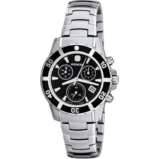 Wenger Women's Sport Elegance Chrono Black Dial Bracelet Watch