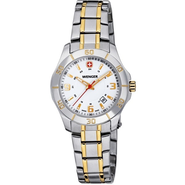 Wenger Women's Alpine Two-tone Silver Dial Stainless Steel Watch