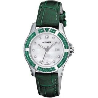 Wenger Women's Sport Elegance Green Leather Watch
