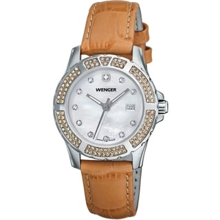 Wenger Women's Sport Elegance Peach Leather Watch