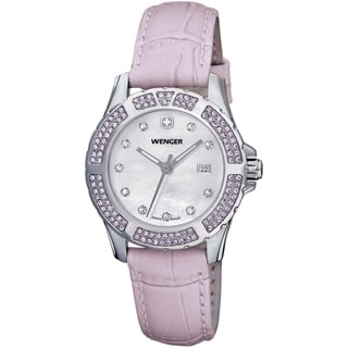Wenger Women's Sport Elegance Lavender Leather Watch