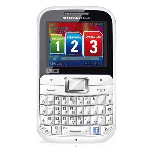 Motorola MOTOKEY EX117 3-Chip GSM Unlocked QWERTY Cell Phone