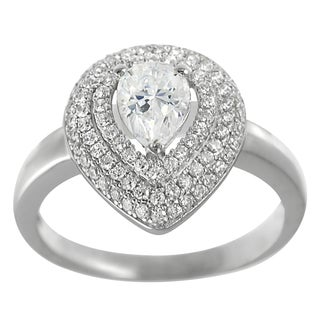 Tressa Sterling Silver Cubic Zirconia Solitaire Anniversary Ring