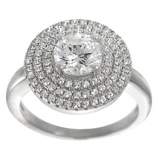 Tressa Collection Sterling Silver CZ Solitaire Anniversary Ring