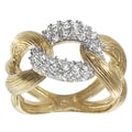 Tressa Goldplated Sterling Silver Cubic Zirconia Ring