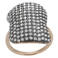Tressa Rose Gold and Rhodium-plated Silver Cubic Zirconia Vintage Ring