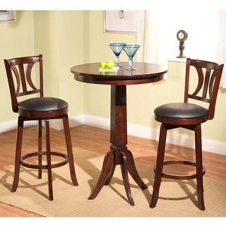 Mahogany Finish 3-piece Anderson Pub Set