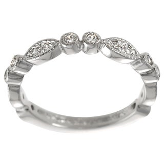 Tressa Sterling Silver White Cubic Zirconia Vintage Ring