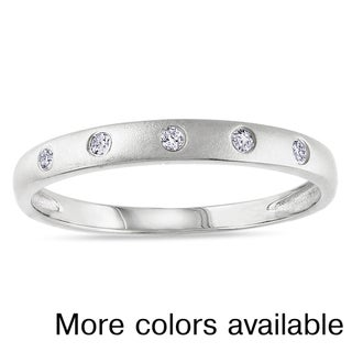 Miadora Plated Silver Diamond Accent Ring