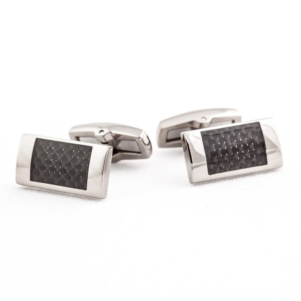 Cuff Daddy Titanium Carbon Fiber Cuff Links
