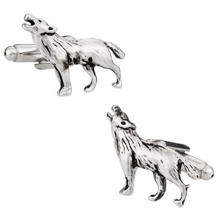Cuff Daddy Silvertone Howling Wolf Cuff Links