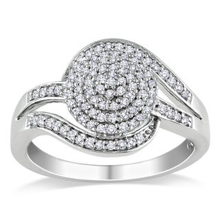 Miadora Sterling Silver 1/3ct TDW Diamond Ring (H-I, I2-I3)