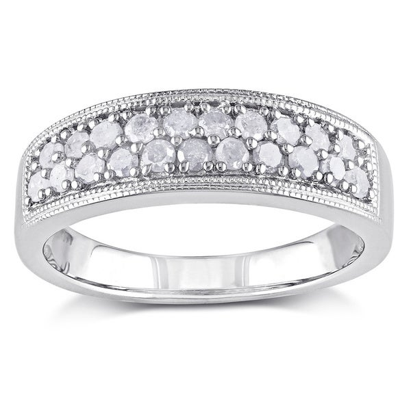 Miadora Sterling Silver 1/2ct TDW Diamond Ring (I-J I2-I3)