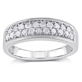 M by Miadora Sterling Silver 1/2ct TDW Diamond Ring (I-J, I2-I3)