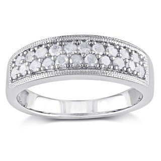 Miadora Sterling Silver 1/2ct TDW Diamond Ring (I-J, I2-I3)