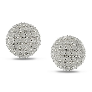 Miadora Sterling Silver 1ct TDW Diamond Stud Earrings (I-J, I2-I3)