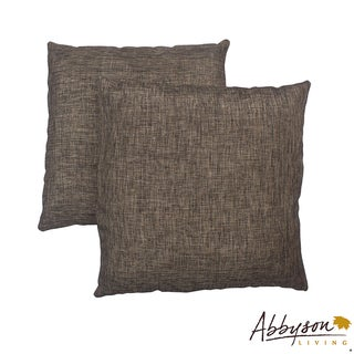 Abbyson Living Aspen 18-inch Two-tone Brown Decorative Pillows (Set of 2)