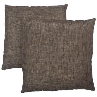 Abbyson Living Aspen 18-inch Two-tone Brown Decorative Pillows (Set of 2)