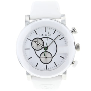 gucci mens white gchrono watch overstock� shopping