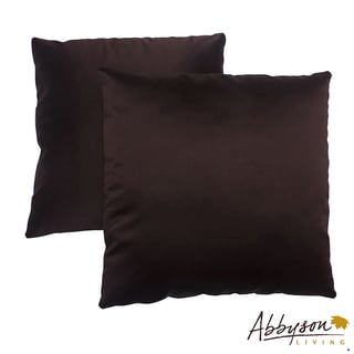 Abbyson Living Bliss 18-inch Dark Brown Decorative Pillows (Set of 2)