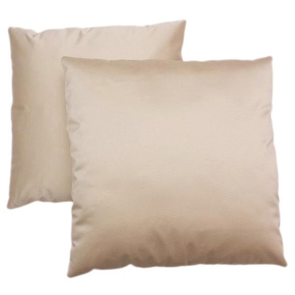 ABBYSON LIVING Bliss 18-inch Cream Decorative Pillows (Set of 2)