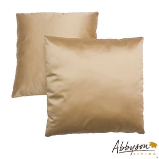 Abbyson Living Bliss 18-inch Gold Decorative Pillows (Set of 2)
