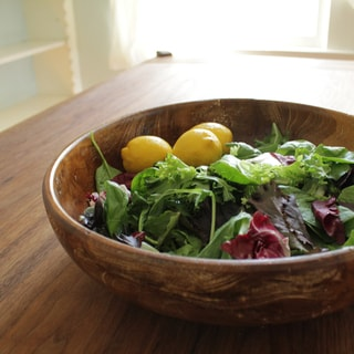 Reclaimed Teak Rustic Salad Bowl Large (Indonesia)