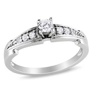 Miadora Sterling Silver 1/4ct TDW Diamond Promise-style Ring (H-I, I2-I3)