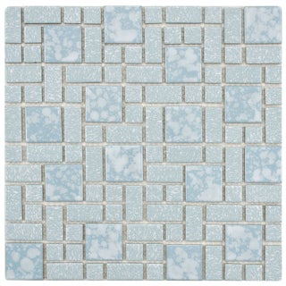 SomerTile 11.75x11.75-inch Academy Blue Floor and Wall Tiles (Set of 10)